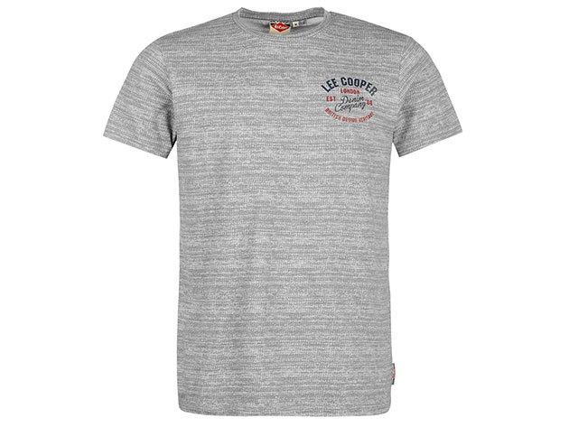 Lee Cooper Tex SL  szürke férfi póló cikkszám: 59957902 - M