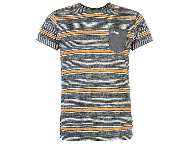 Lee Cooper Tex LL szürke csíkos férfi póló cikkszám: 59958726 - L