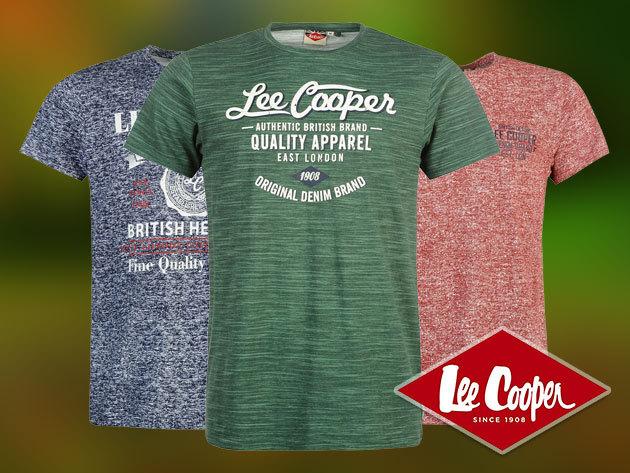 Lee Cooper férfi póló 100% pamut anyagból, S-XL méretben - kényelmes, stílusos viselet szuper minőségben