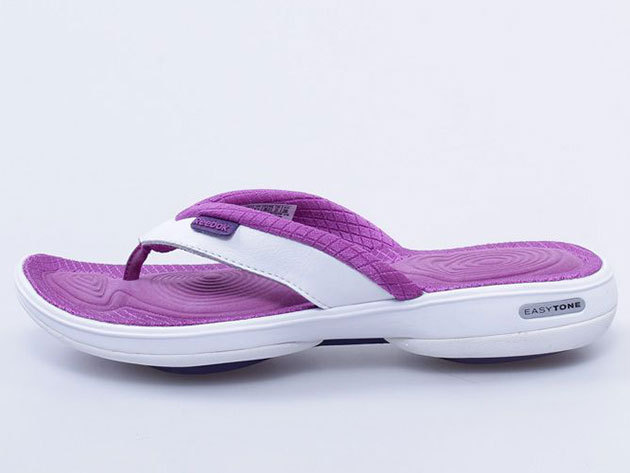 Reebok Easytone Flip II, női lábujjközös papucs - lila-fehér - 35
