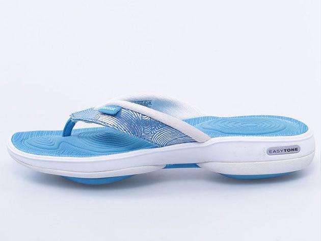 Reebok Easytone Flip II, női lábujjközös papucs - kék - 35
