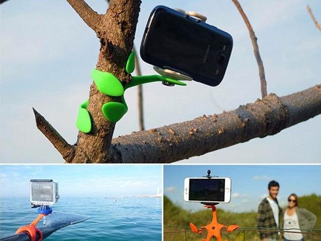 Gekkó flexibilis kamera állvány mobilodhoz, a fényképeződhöz és a GOPRO kamerádhoz - szinte bárhová rögzíthető
