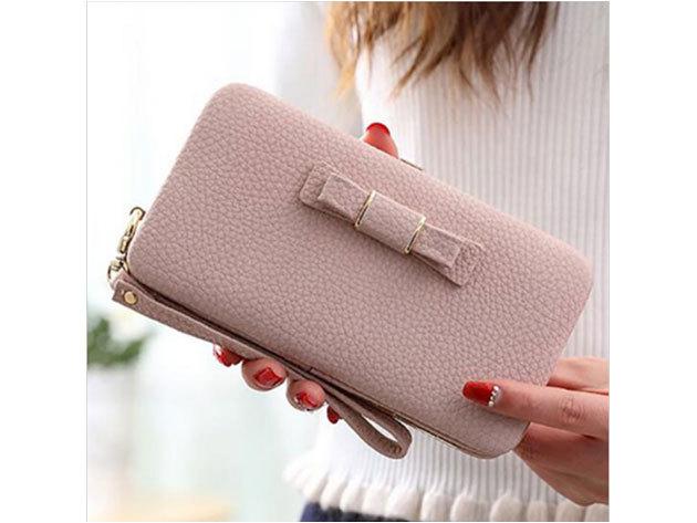 Női clutch táska - halvány rózsaszín