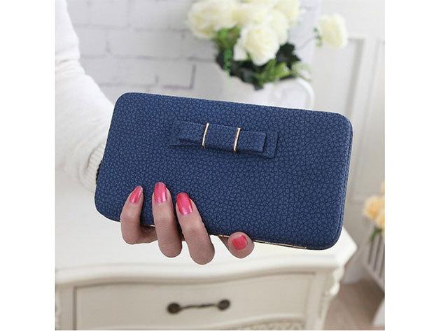 Női clutch táska - kék