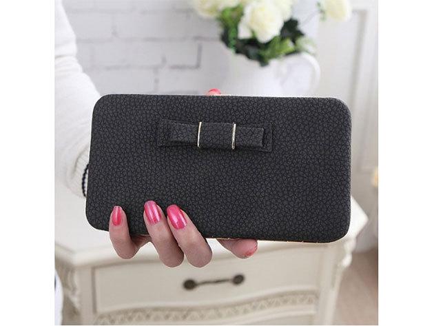 Női clutch táska - sötétszürke