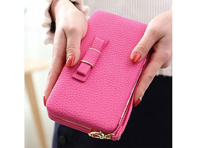 Női clutch táska - rózsaszín