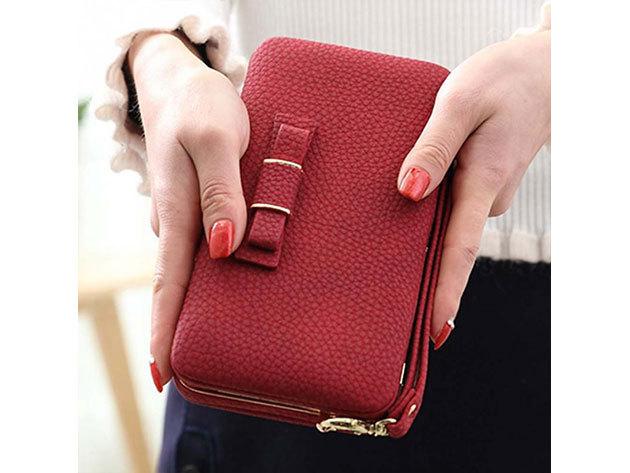 Női clutch táska - piros