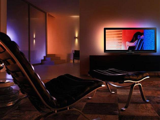 RGB LED hangulatvilágítás TV, monitor, kijelzők mögé (50 cm hosszú, 15 színárnyalat, fényjátékok) - dobd fel otthonodat kreatív kiegészítőkkel