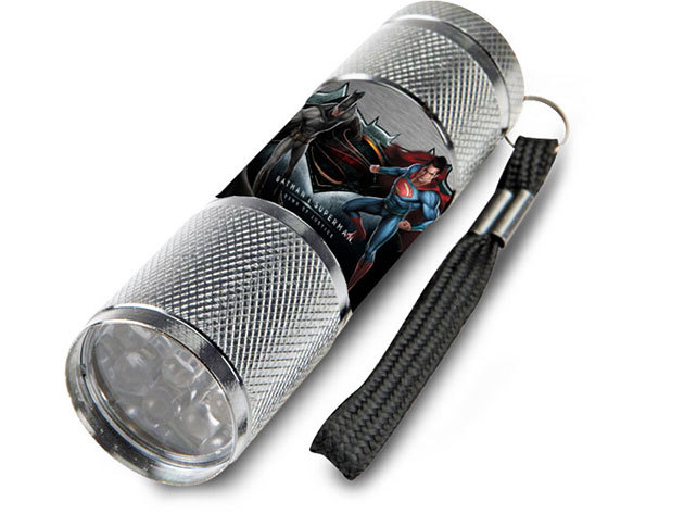 Gyermek alumínium LED zseblámpa / Batman vs. Superman szürke