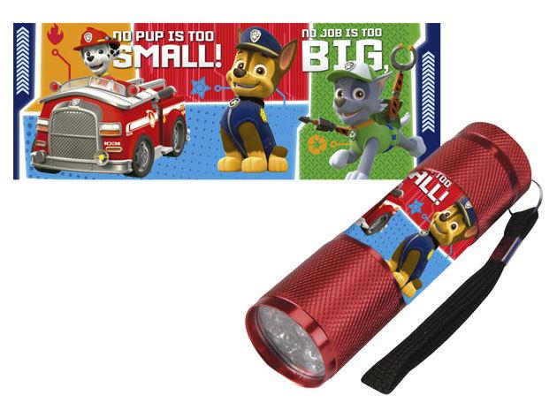 Gyermek alumínium LED zseblámpa / Paw Patrol piros