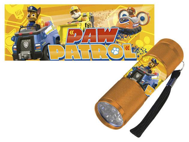 Gyermek alumínium LED zseblámpa / Paw Patrol sárga