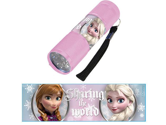Gyermek alumínium LED zseblámpa / Jégvarázs rózsaszín