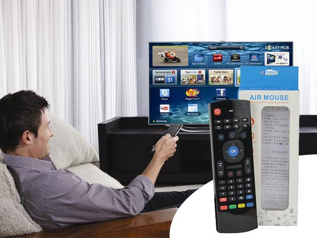 Air Mouse légegér - vezeték nélküli kapcsolódás TV-hez, laptophoz, tablethez  - a legnagyobb kényelem érdekében