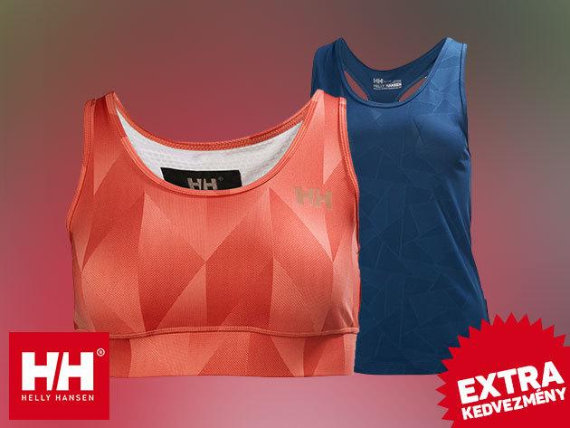 Helly Hansen női sportfelsők gyorsan száradó, rugalmas anyagból: W VTR CROPPED TOP hűsítő X-Cool technológiával és W SELSLI SINGLET trikó