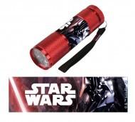 Gyermek alumínium LED zseblámpa / Star Wars piros