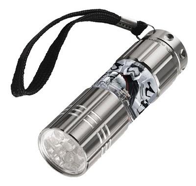 Gyermek alumínium LED zseblámpa / Star Wars szürke