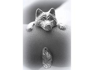 Kutyás ezüst gyűrű - malamut