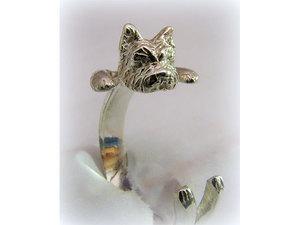 Kutyás ezüst gyűrű - yorki