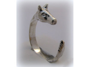Lovas ezüst gyűrű