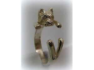 Kutyás ezüst gyűrű - westie
