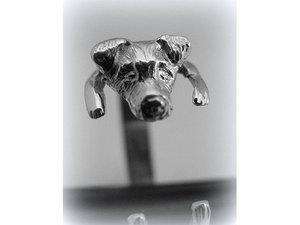 Kutyás ezüst gyűrű - Jack Russel
