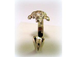 Kutyás ezüst gyűrű - Vizsla