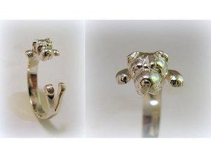 Kutyás ezüst gyűrű - Shar Pei
