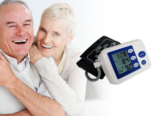 Vérnyomásmérő digitális LCD kijelzővel - egyszerűen kezelhető, automata készülék