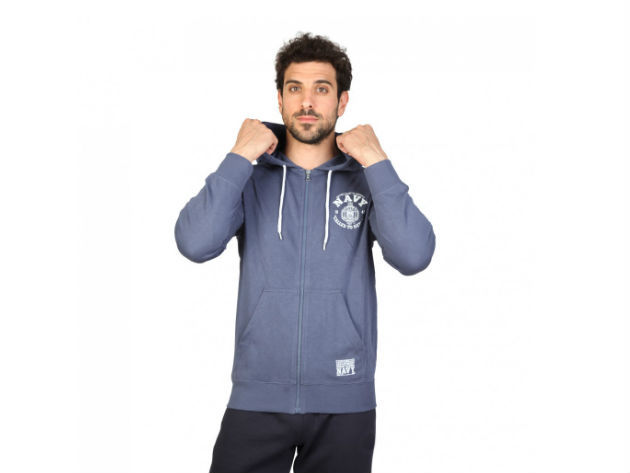 CHAMPION férfi kapucnis cipzáras pulóver  - kék - BL10128 - M