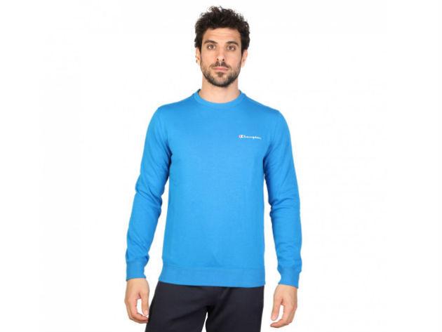 CHAMPION férfi kereknyakú pulóver  - kék - BL10138 - S