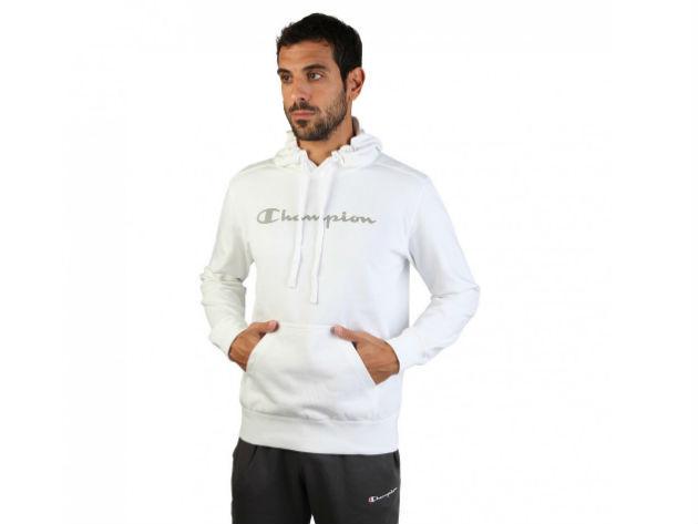 CHAMPION férfi kapucnis cipzáras pulóver  - fehér - BL10145 - L