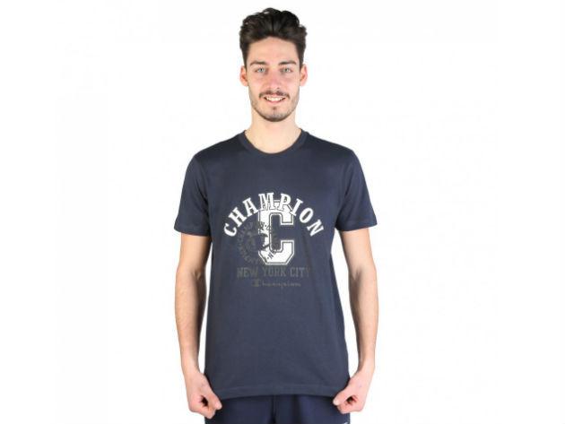 CHAMPION férfi kereknyakú póló  - kék - BL10153 - XL