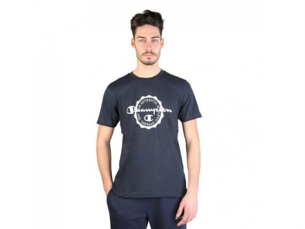 CHAMPION férfi kereknyakú póló  - kék - BL10157 - L
