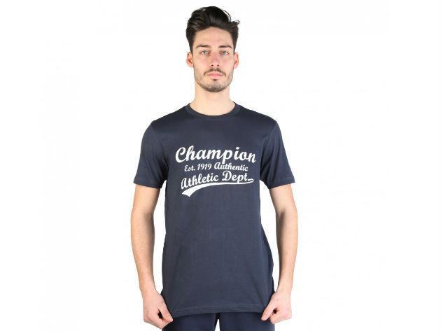 CHAMPION férfi kereknyakú póló  - kék - BL10161 - S