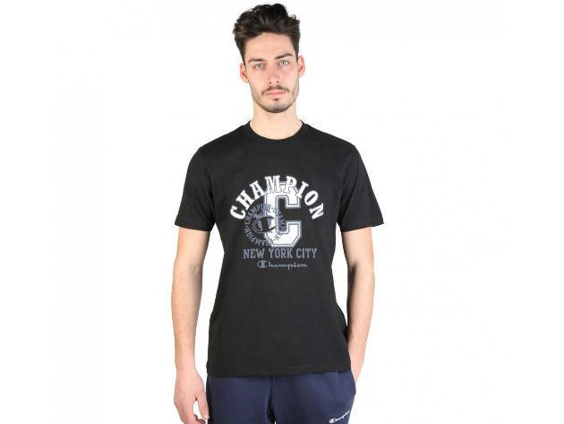 CHAMPION férfi kereknyakú póló  - fekete - BL10165 - L