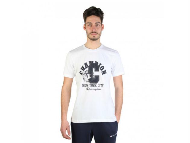 CHAMPION férfi kereknyakú póló  - fehér - BL10169 - M