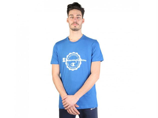 CHAMPION férfi kereknyakú póló  - kék - BL10177 - XL