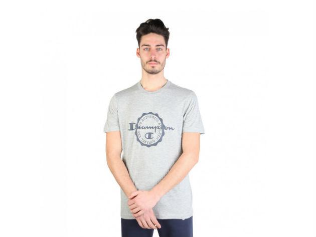 CHAMPION férfi kereknyakú póló  - szürke - BL10181 - L