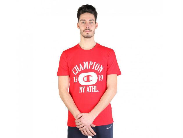 CHAMPION férfi kereknyakú póló  - piros - BL10185 - S