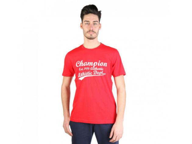 CHAMPION férfi kereknyakú póló  - piros - BL10189 - M