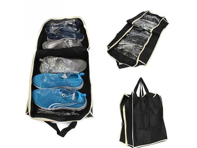 Utazó cipőtároló táska - fekete