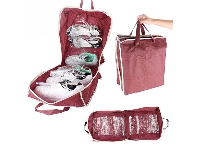 Utazó cipőtároló táska - vörös