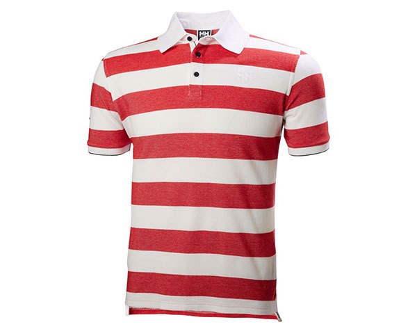 Helly Hansen MARSTRAND POLO RED STRIPE S (53022_162-S)