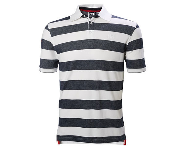 Helly Hansen MARSTRAND POLO NAVY STRIPE S (53022_598-S)