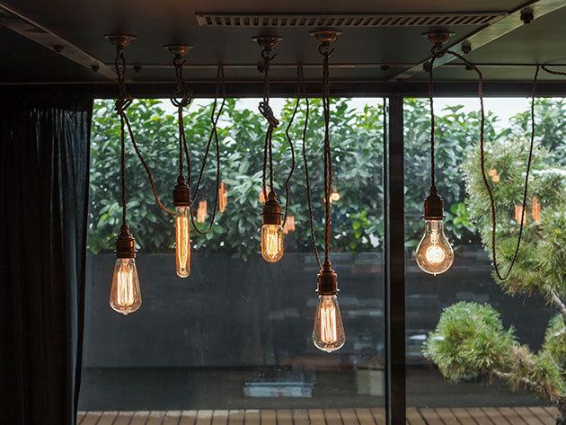 Edison égők E27-es foglalattal - egyedi megjelenés, retró dizájn (3 típus) átlátszó búrában, dekorációs célokra (40W)