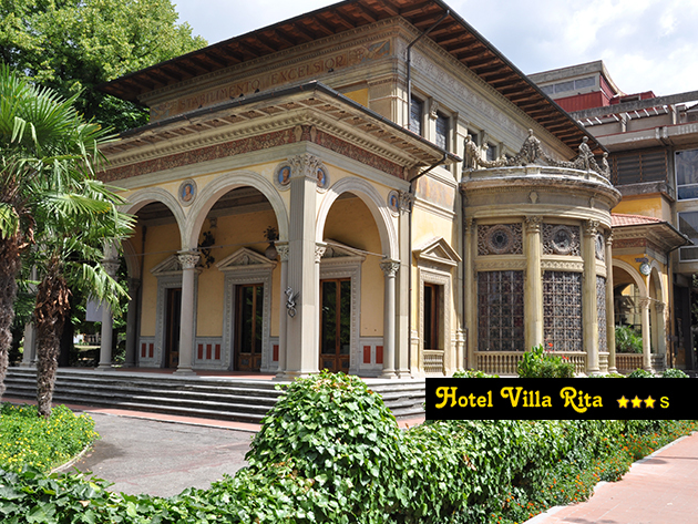 Hotel Villa Rita***s, Toszkána, Olaszország  - 6 nap / 5 éjszaka 2 főre félpanzióval a gyógyfürdőiről híres Montecatini Terme-ben - 1 évig beváltható