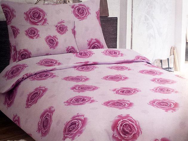 SMARTEX 3 részes 100% pamut Standard ágynemű garnitúra - Pink Roses  (7r4)