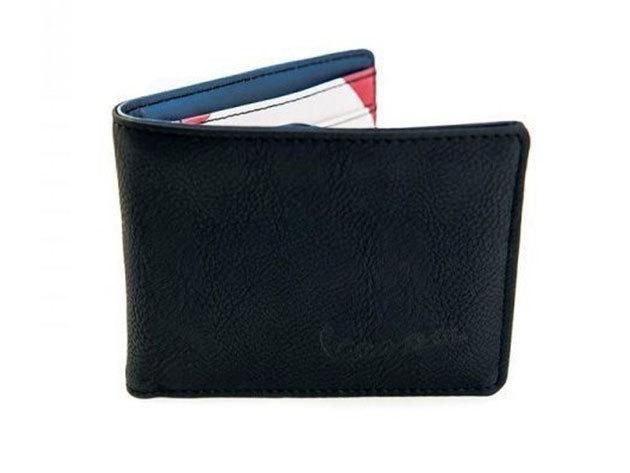 Vespa Go Vespa fekete színű férfi pénztárca (belül fehér, piros, kék)