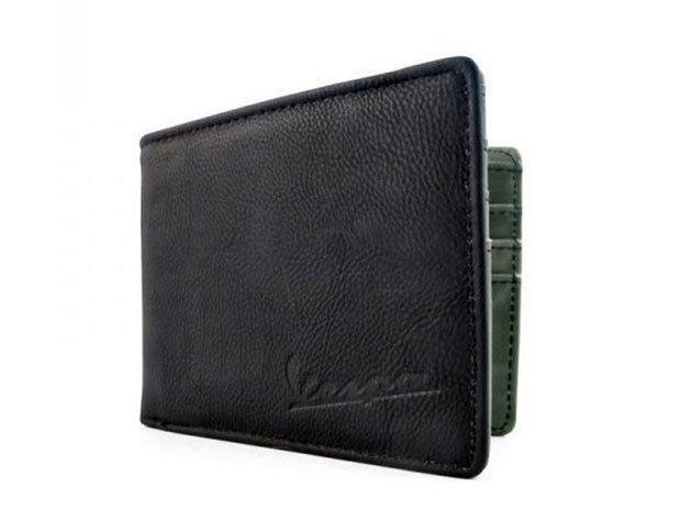 Vespa Go Vespa fekete színű férfi pénztárca (belül zöld)