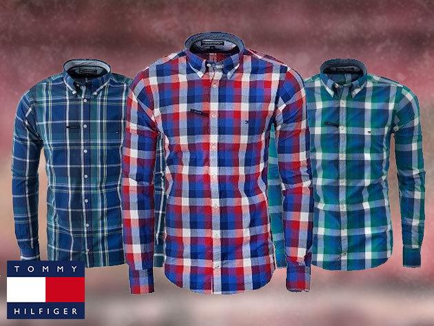 Tommy Hilfiger férfi ingek 100% pamutból, M-XXL méretben, szűkített fazonnal / hódíts lehengerlő stílusérzékeddel!